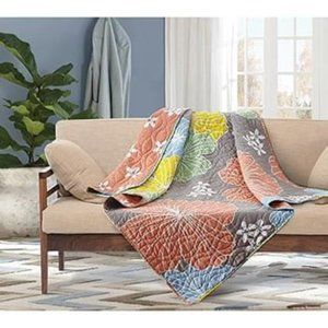 Hibiscus Quilted Throw